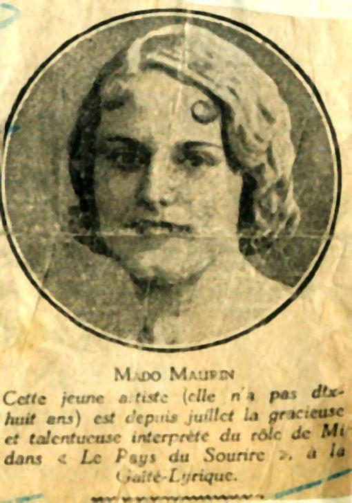 04 - LE PAYS DU SOURIRE - MADO EN 1933